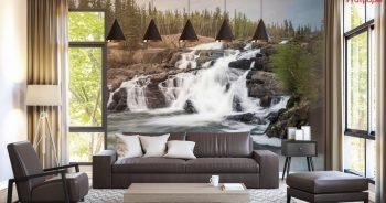 ภาพมงคลแต่งบ้าน ลายทิวทัศน์น้ำตกที่สวยงาม ตามหลักฮวงจุ้ย ติดผนังห้องนั่งเล่น แบบที่ 25-EX