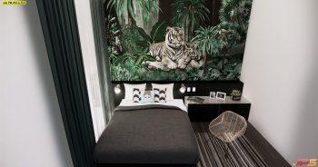 วอลเปเปอร์ตกแต่งห้อง ลายสวนป่าเสือโคร่ง ติดผนังห้องนอน แบบที่ 18-A-EX3