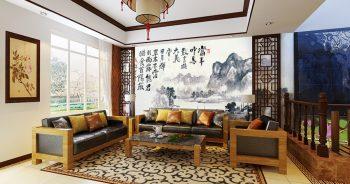 วอลเปเปอร์สั่งพิมพ์ ลายภูเขา ภาพวาดจีน แบบที่ JCHO-103-EX