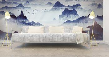 วอลเปเปอร์สั่งพิมพ์ ลายภูเขา ภาพวาดจีน แบบที่ JCP-33-EX